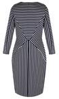 Sandwich Clothing Dark Sapphire Striped Jersey Dress