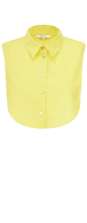 Sandwich Clothing Cotton Collar Separate Warm Yellow