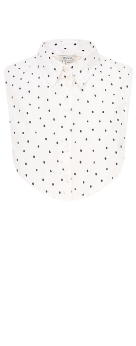 Sandwich Clothing Cotton Dot Collar  Spring White