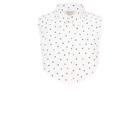 Sandwich Clothing Cotton Dot Collar Seperate - White