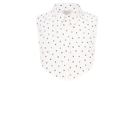 Sandwich Clothing Cotton Dot Collar  - White