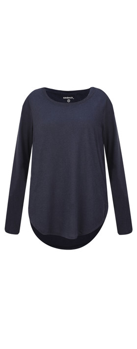 Sandwich Clothing Linen Mix Long Sleeve Top Dark Sapphire
