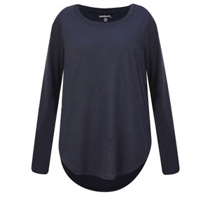 Sandwich Clothing Linen Mix Long Sleeve Top