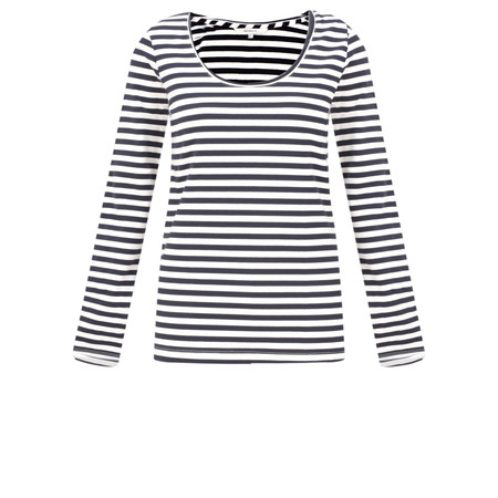 Sandwich Clothing Organic Cotton Stripe Top - Blue