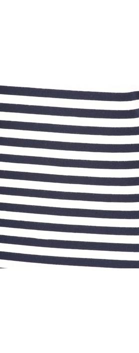 Sandwich Clothing Organic Cotton Stripe Top Dark Sapphire