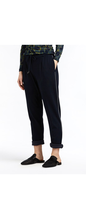 Sandwich Clothing Crepe Jersey Straight Leg Trouser Dark Sapphire