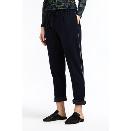 Sandwich Clothing Crepe Jersey Straight Leg Trouser - Blue