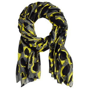 Sandwich Clothing Bold Abstract Leopard Print Scarf