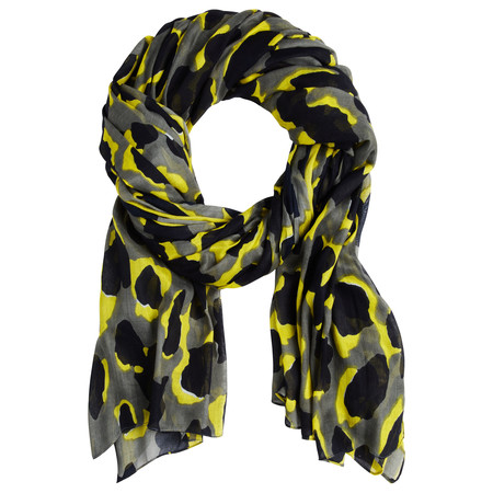 Sandwich Clothing Bold Abstract Leopard Print Scarf - Green