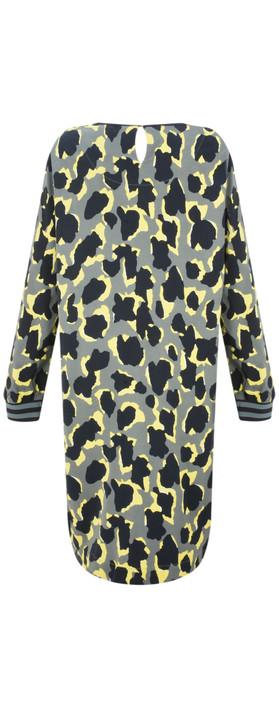 Sandwich Clothing Abstract Animal Spot Print Dress Deep Jade