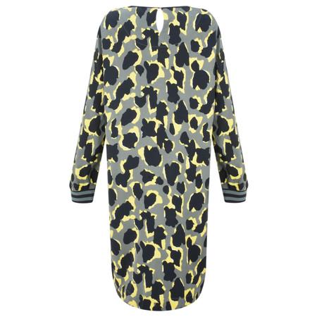 Sandwich Clothing Abstract Animal Spot Print Dress - Green