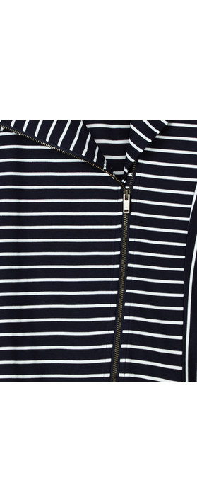 Sandwich Clothing Striped Jersey Jacket Dark Sapphire