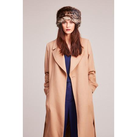 Helen Moore Pillbox Faux Fur Hat - Brown