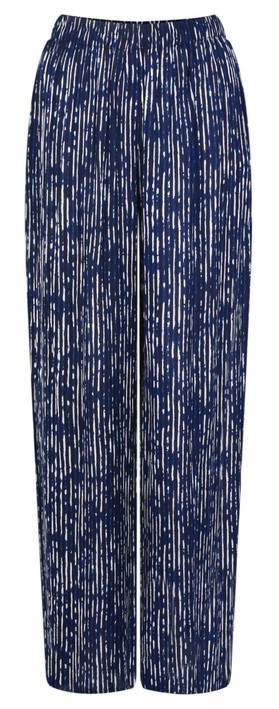 Adini Promenade Stripe Paloma Trouser Navy