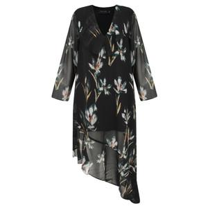 Religion Fantasy Floral Print Dress