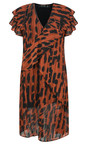 Religion Form Print Ace Animal Print Dress