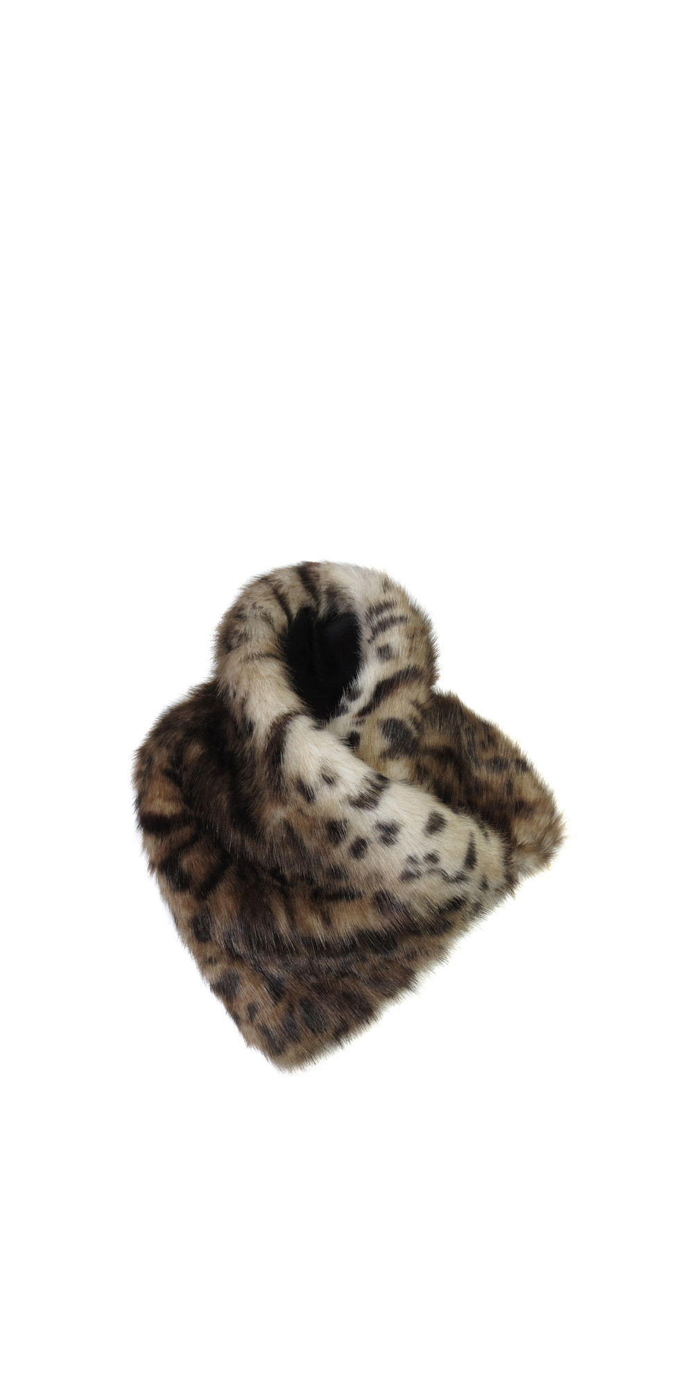 Ocelot Faux Fur Asymmetric Scarf main image
