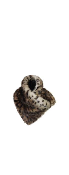 Helen Moore Ocelot Faux Fur Asymmetric Scarf Ocelot