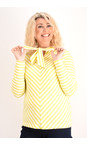 Sandwich Clothing Warm Yellow Striped Bow Detail Top