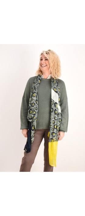Sandwich Clothing Victoria Weave Leopard Scarf Deep Jade