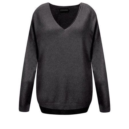 Fenella  Emmie EasyFit V-neck Knit Jumper - Black