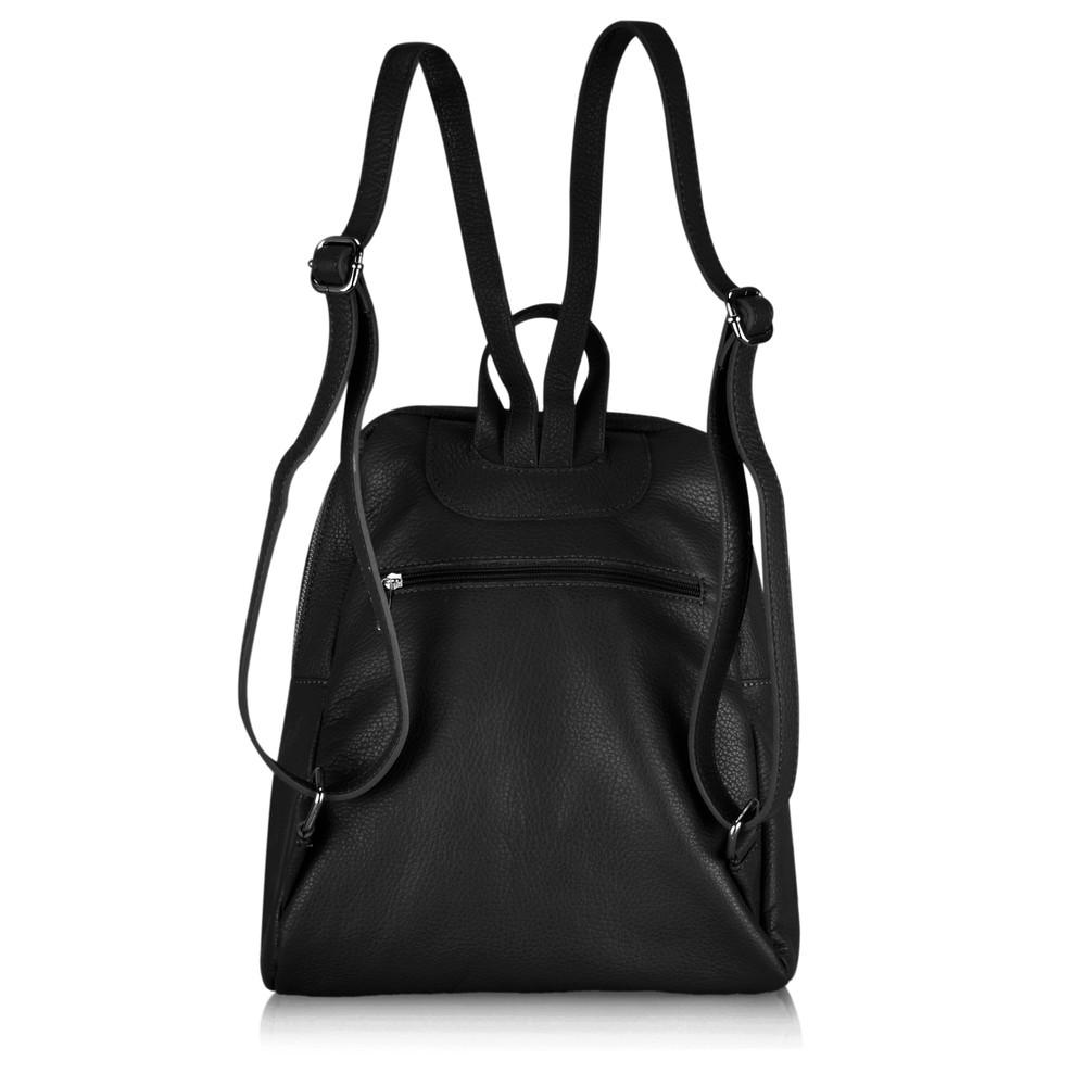 Gemini Label Bags Salerno Leather Backpack Black