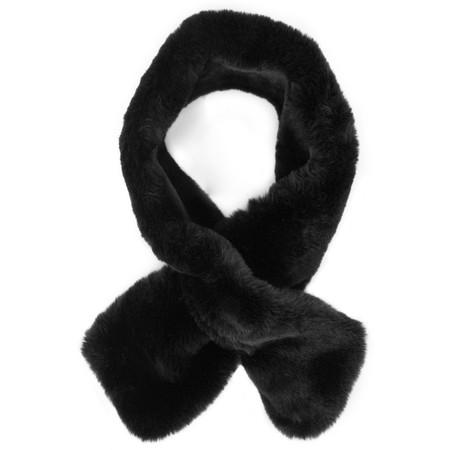 AlexMax Silvia Faux Fur Scarf - Black