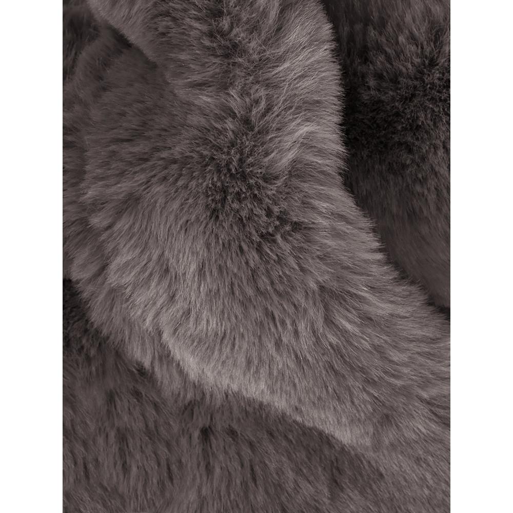 AlexMax Silvia Faux Fur Scarf Dark Taupe