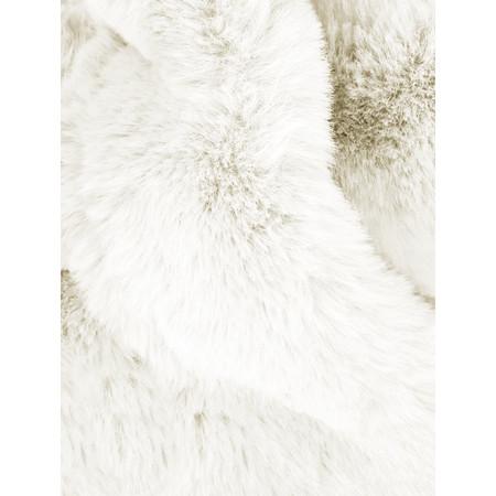 AlexMax Silvia Faux Fur Scarf - Off-White