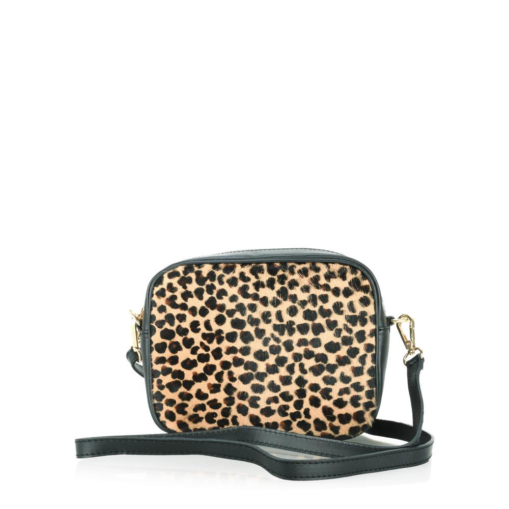 Gemini Label Bags Pinkie Leather Animal Print Bag Jaguar