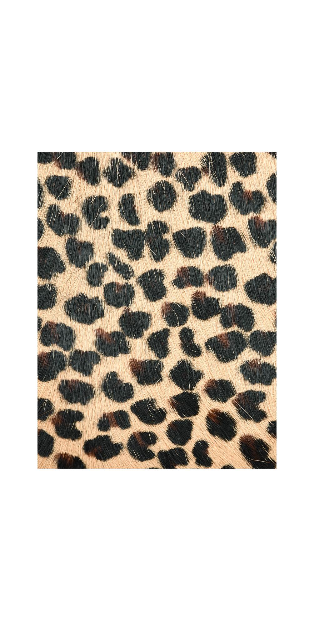 339a740ae Gemini Label Pinkie Leather Animal Print Bag in Jaguar
