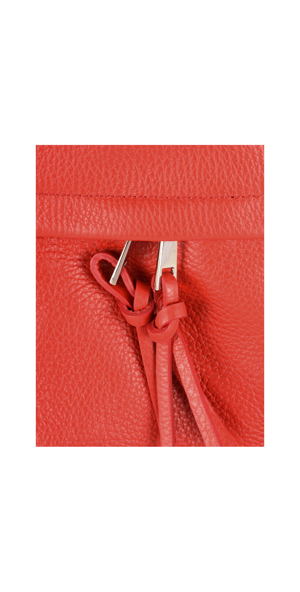 Lecco Leather Tassel Shoulder Bag main image