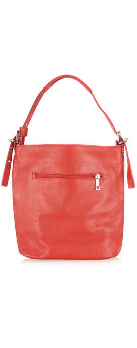 Gemini Label Bags Lecco Leather Tassel Shoulder Bag Red