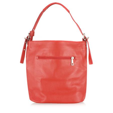 Gemini Label Bags Lecco Leather Tassel Shoulder Bag - Red