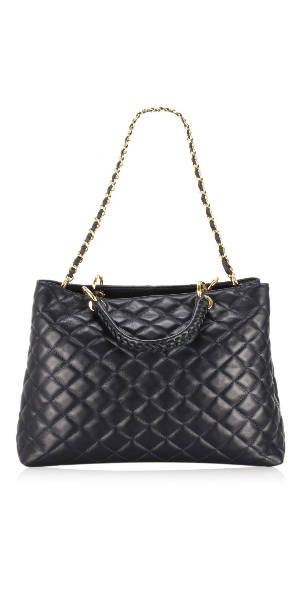 Perlo Leather Tote Bag main image