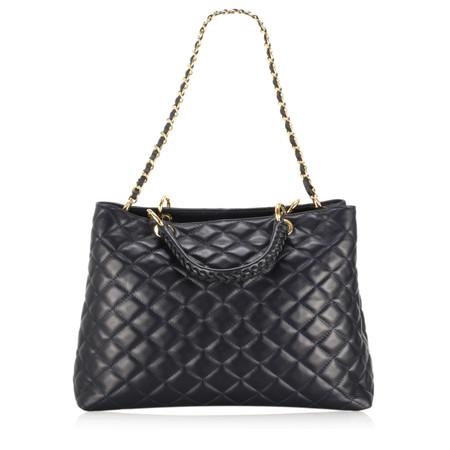 Gemini Label Bags Perlo Leather Tote Bag - Blue