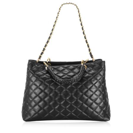 Gemini Label Bags Perlo Leather Tote Bag - Black