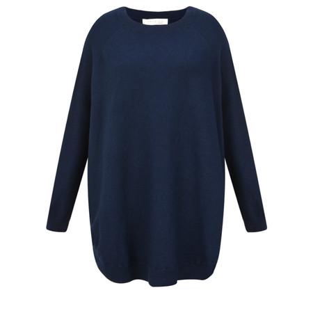 Amazing Woman Wylda Side Split Knit Jumper - Blue