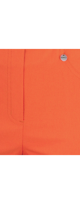Robell  Bella 09 Ankle Length 7/8 Cuff Trouser Orange 321