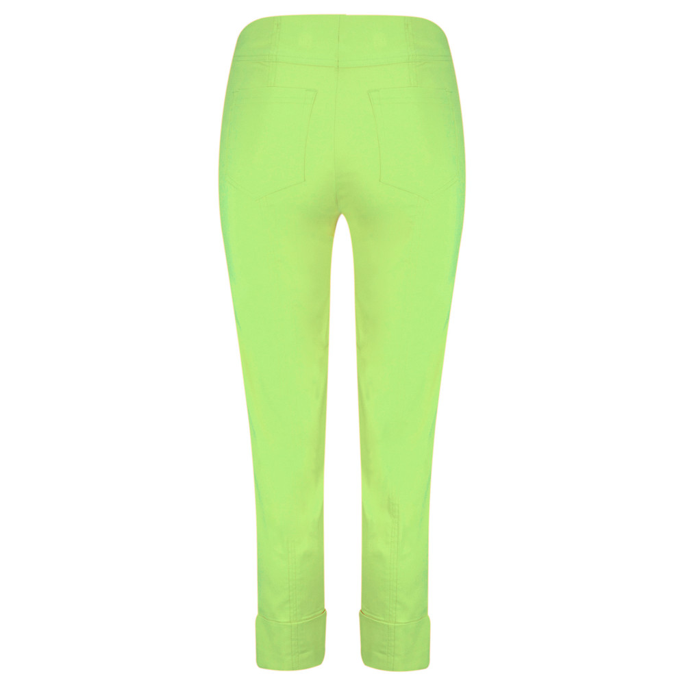 Robell Bella 09 Lime Ankle Length Crop Cuff Trouser Lime 810