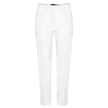 Robell Trousers Bella 09 Ankle Length 7/8 Cuff Trouser - White