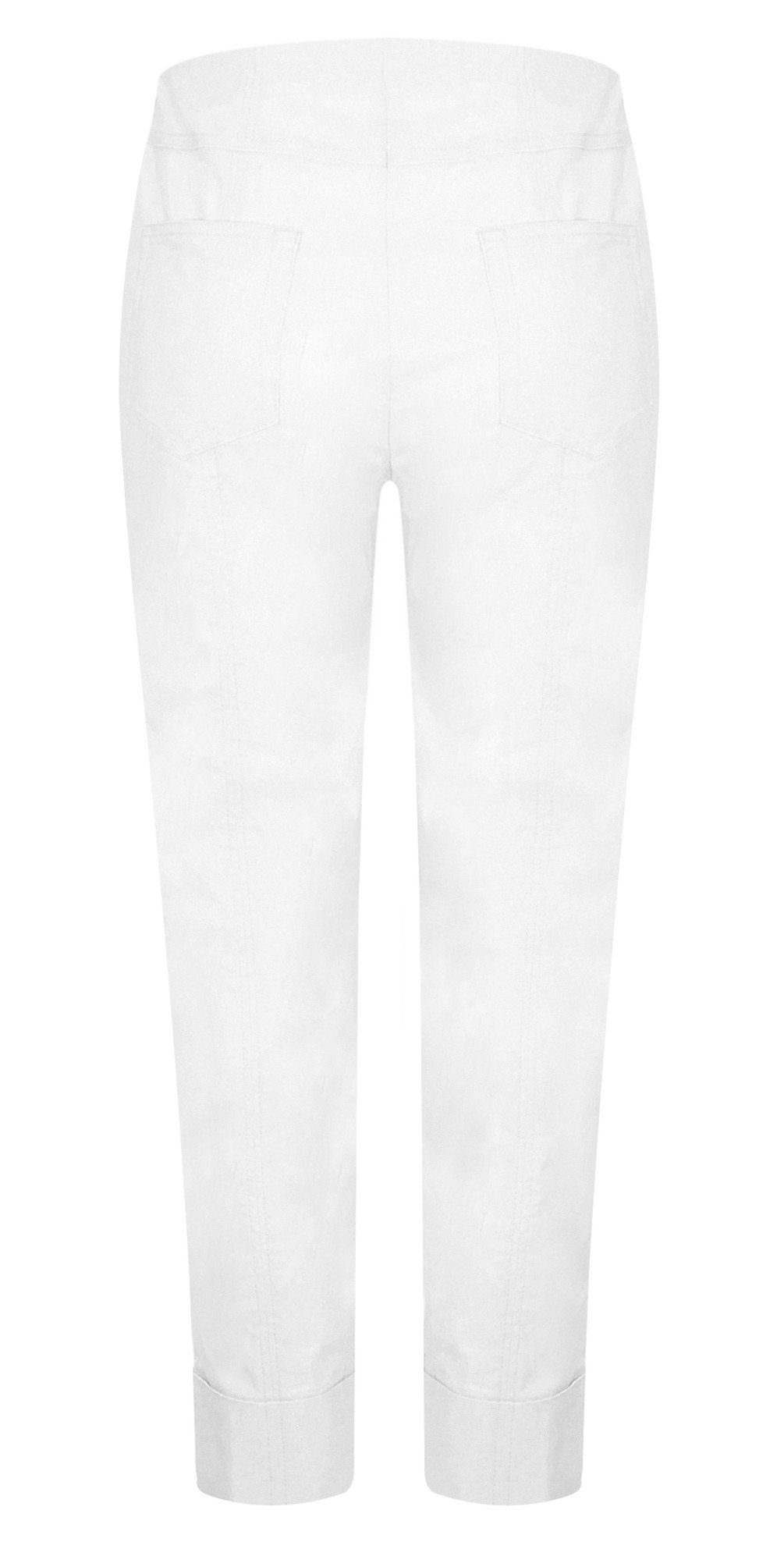 Bella 09 White Ankle Length 7/8 Cuff Trouser main image