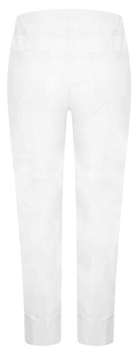 Robell  Bella 09 White Ankle Length 7/8 Cuff Trouser White 10