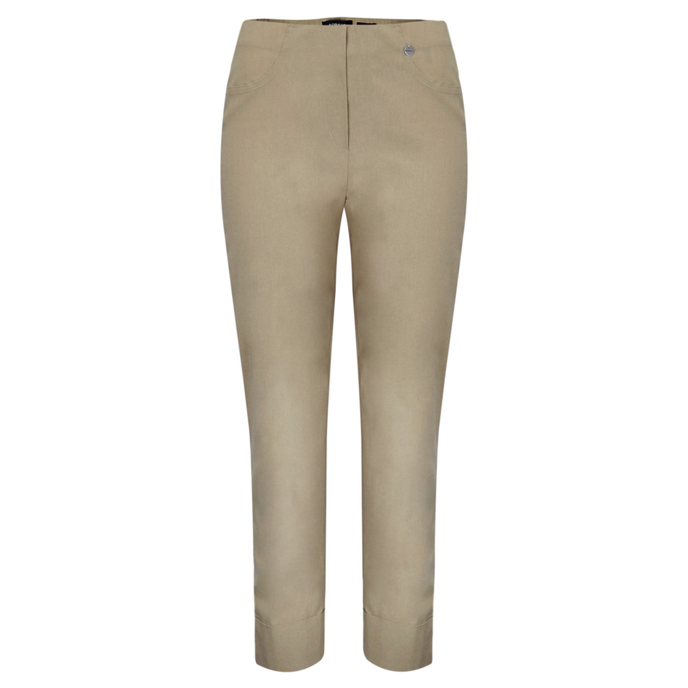 Robell Bella 09 Taupe Ankle Length Crop Cuff Trouser Taupe 17