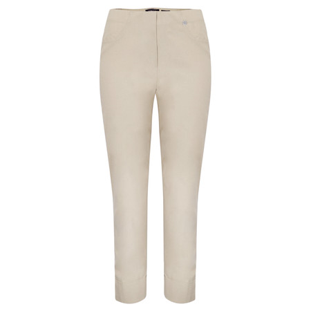 Robell Trousers Bella 09 Ankle Length 7/8 Cuff Trouser - Beige