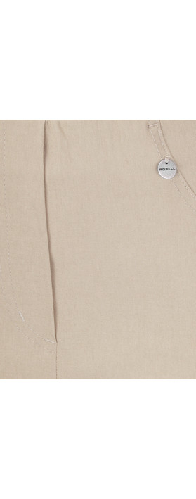 Robell  Bella 09 Light Taupe Ankle Length 7/8 Cuff Trouser Light Taupe 13