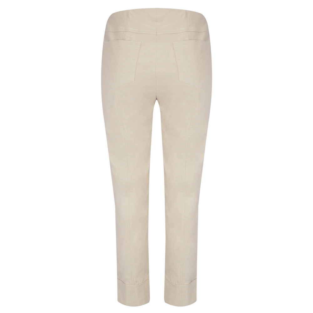 Robell Bella 09 Light Taupe Ankle Length Crop Cuff Trouser Light Taupe 13