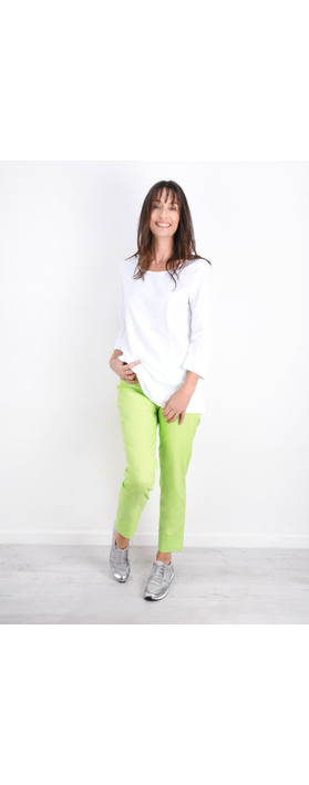 Robell Trousers Bella 09 Ankle Length 7/8 Cuff Trouser Lime 810
