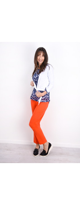 Robell Trousers Bella 09 Ankle Length 7/8 Cuff Trouser Orange 321