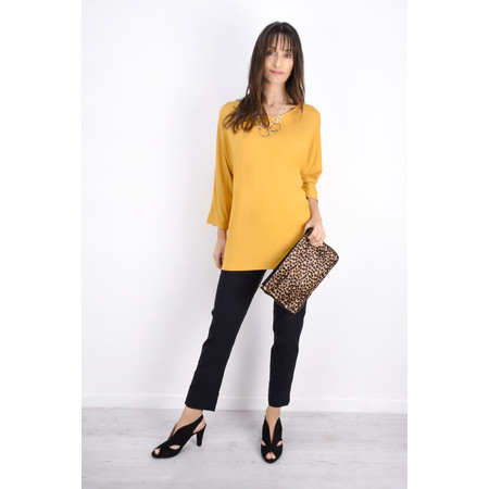 Aisling Dreams Sacha Soft Jersey Relaxed Top - Yellow